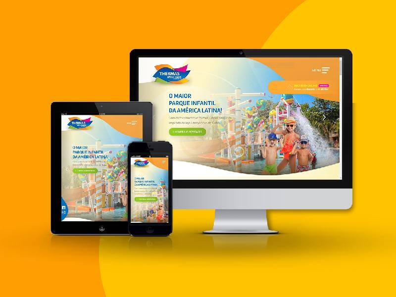 Conheça o novo site do Thermas Water Park