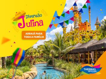 Diversão Julina do Thermas traz comidas típicas e águas quentes