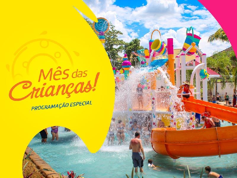 No mês das crianças a diversão é no Thermas Water Park