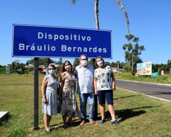 """Rotatória que dá acesso ao Thermas recebe o nome de """"Bráulio Bernardes"""""""